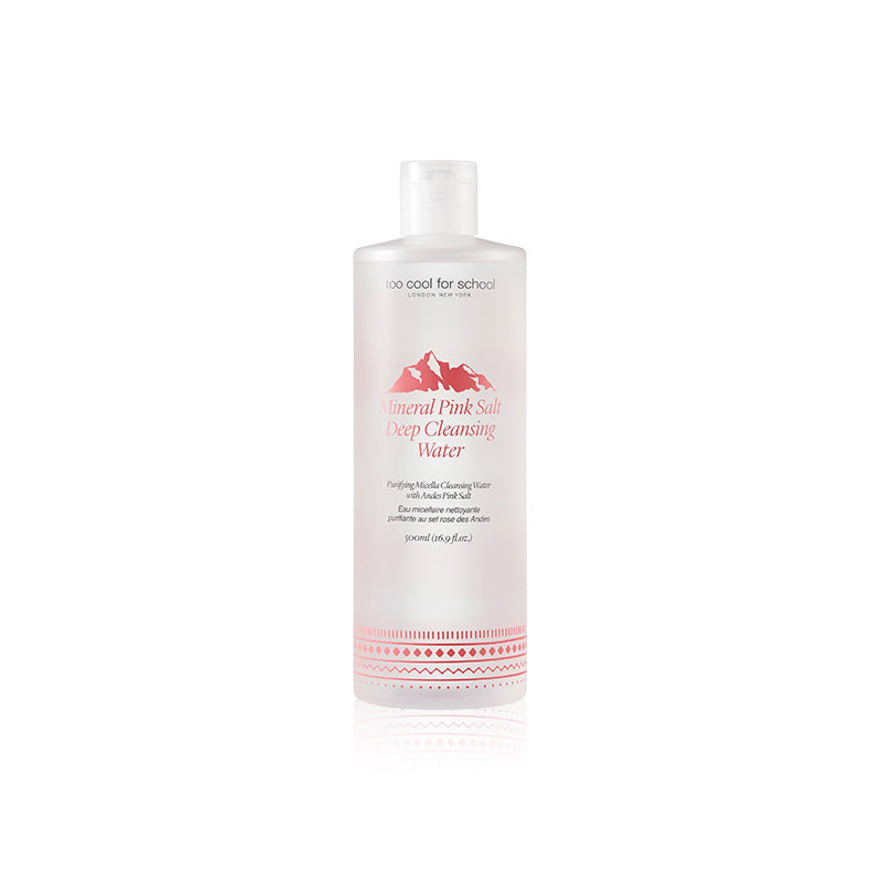 Own label brand, [TOO COOL FOR SCHOOL] Mineral Pink Salt Deep Cleansing Water 500ml (Weight : 574g)