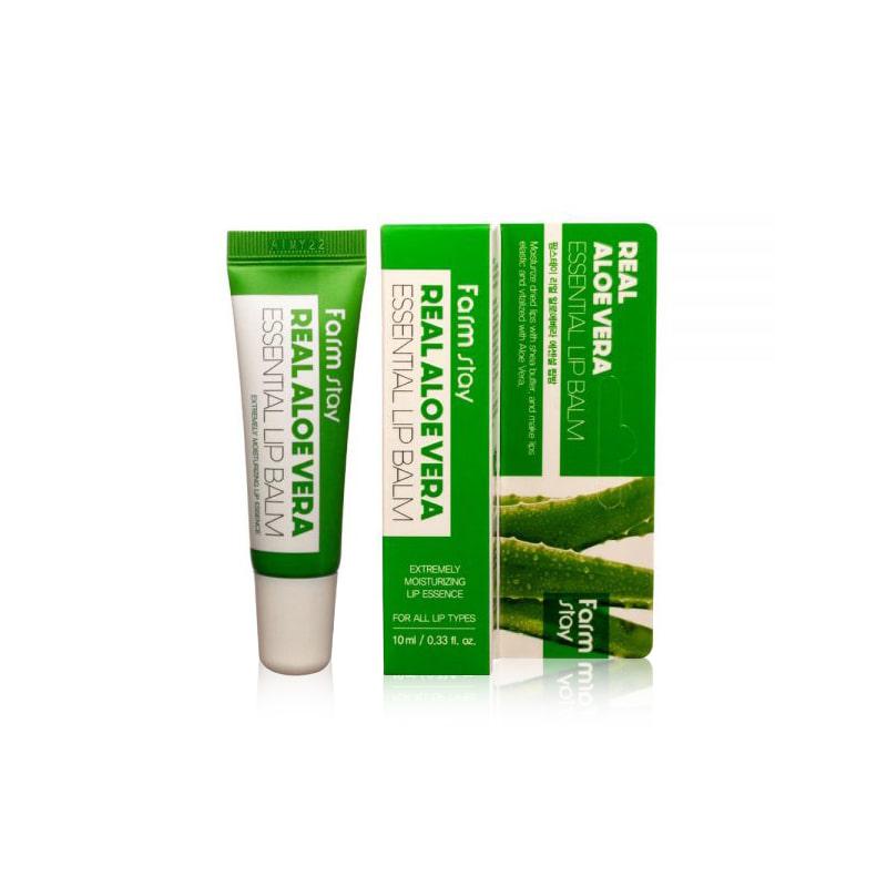 Own label brand, [FARM STAY] Real Aloe Essential Lip Balm 10ml (Weight : 22g)