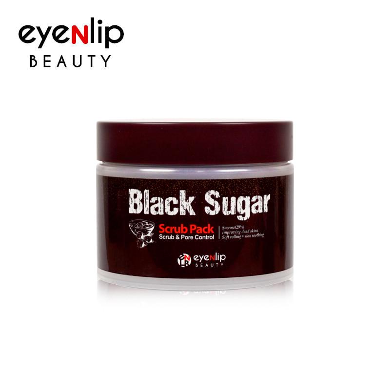 Own label brand, [EYENLIP] Black Sugar Scrub Pack 100ml (Weight : 224g)