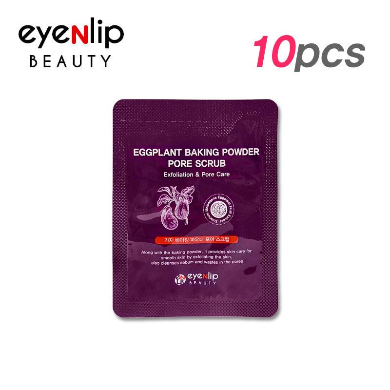 Own label brand, [EYENLIP] Eggplant Baking Powder Pore Scrub 3g * 10pcs [Sample] (Weight : 47g)