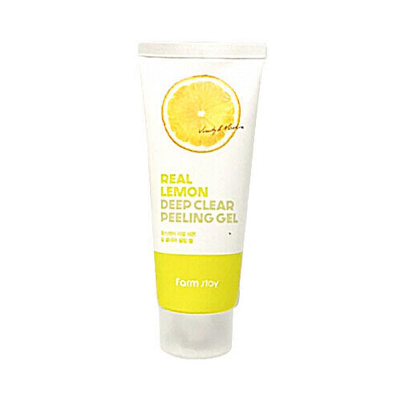 Own label brand, [FARM STAY] Real Lemon Deep Clear Peeling Gel 100ml (Weight : 130g)