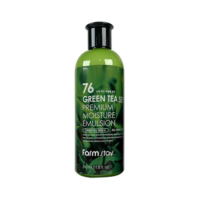 Own label brand, [FARM STAY] 76 Green Tea Seed Premium Moisture Emulsion 350ml (Weight : 411g)