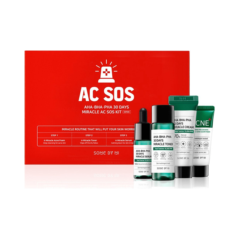 Own label brand, [SOME BY MI] Aha Bha Pha 30 Days Miracle AC SOS Kit (Weight : 187g)