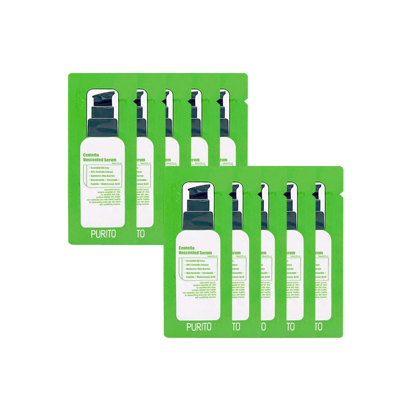 Own label brand, [PURITO] Centella Uncented Serum * 10pcs [sample] (Weight : 13g)