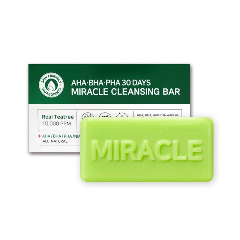 Own label brand, [SOME BY MI] AHA/BHA/PHA 30 Days Miracle Cleansing Bar 106g (Weight : 122g)