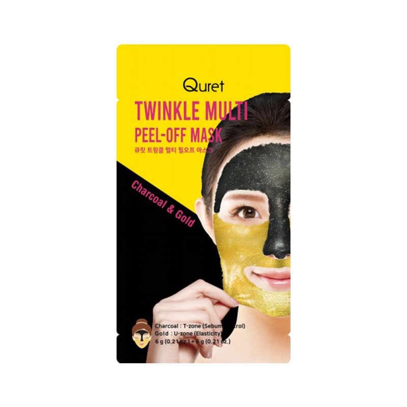 Own label brand, [QURET] Twinkle Multi Peel-off Mask 6g + 6g (Weight : 21g)