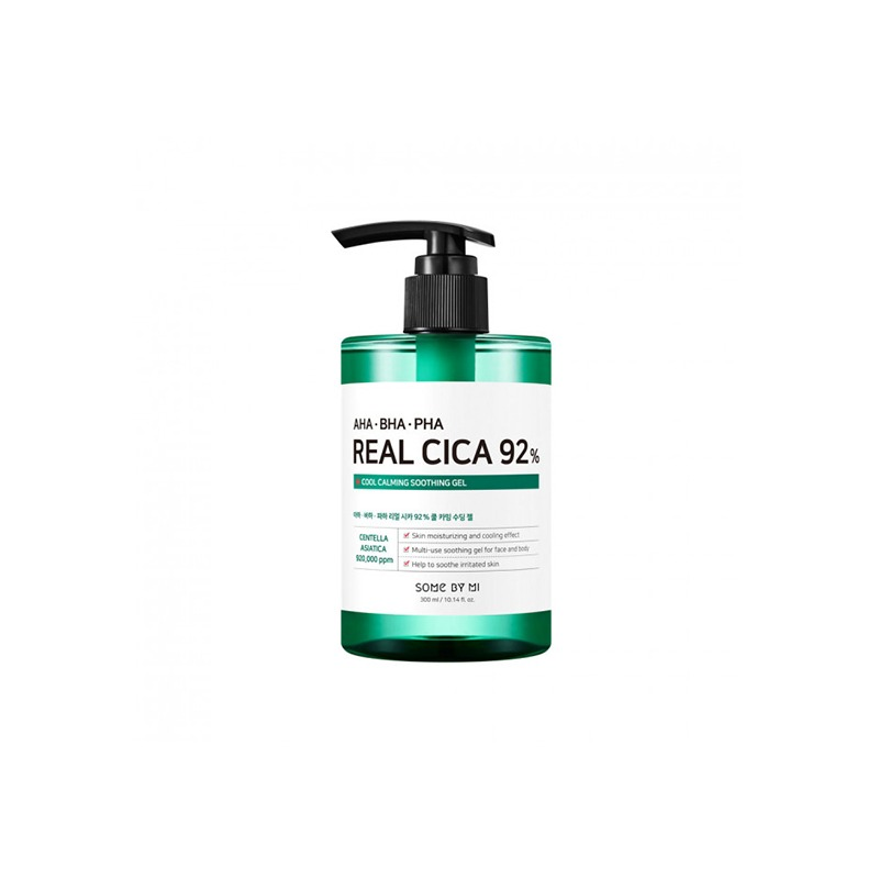 Own label brand, [SOME BY MI] Aha/Bha/Pha Real Cica 92% Cool Calming Soothing Gel 300ml (Weight : 385g)