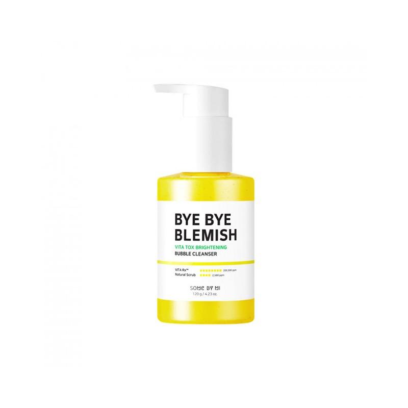 Own label brand, [SOME BY MI] Bye Bye Blemish Vita Tox Brightening Bubble Cleanser 120g (Weight : 183g)