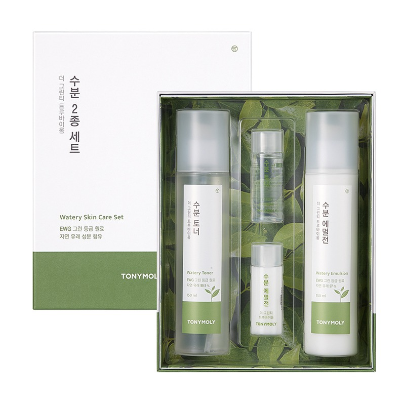Own label brand, [TONYMOLY] The Green Tea Truebiome Watery Skin Care Set (Weight : 731g)