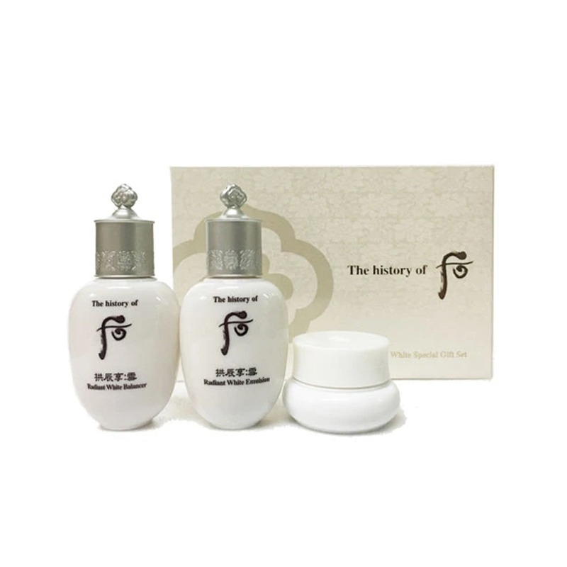 Own label brand, [WHOO] Gongjinhyang : Seol Radiant White 3pcs  Special Gift Kit (Weight : 112g)