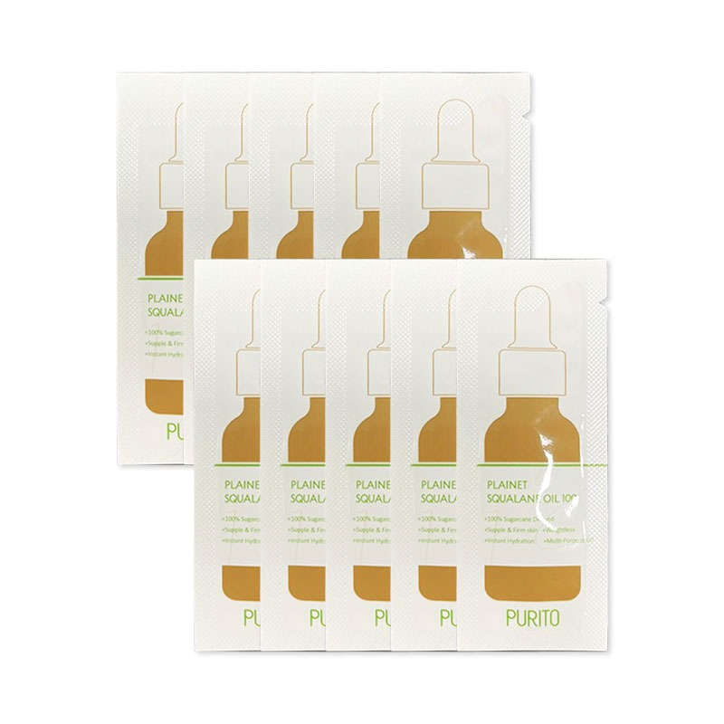 Own label brand, [PURITO] Plainet Squalane Oil 100 * 10pcs [Sample] (Weight : 16g)
