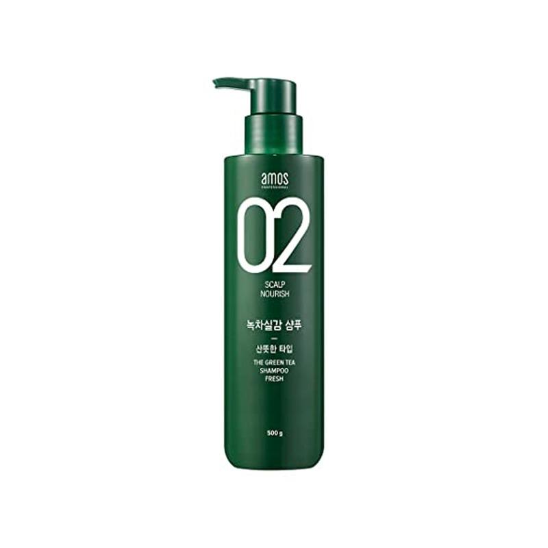 Own label brand, [AMOS] The Greentea Shampoo 500ml [Fresh] (Weight : 630g)