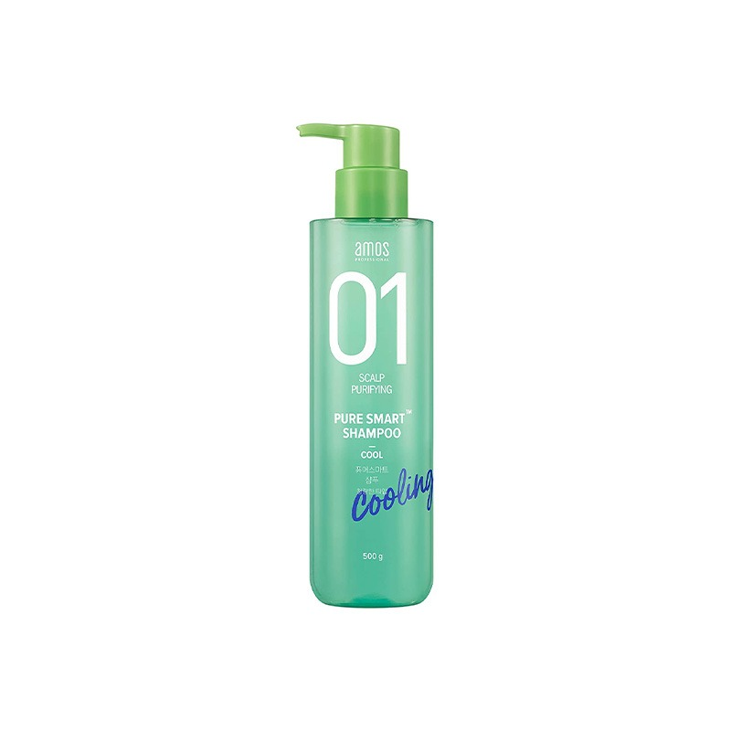 Own label brand, [AMOS] Pure Smart Shampoo 500ml [Cool] (Weight : 630g)
