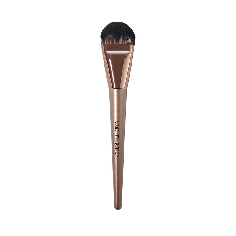 Own label brand, [TOOL N SOME] Rose Gold Edition Round Foundtion Brush 1ea (Weight : 39g)
