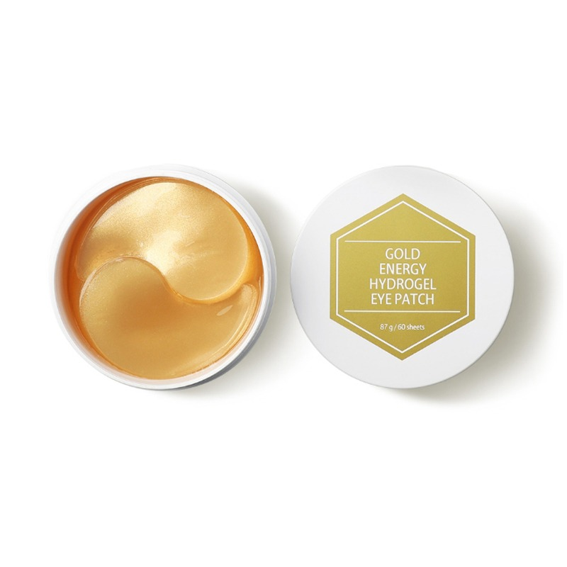 Own label brand, [PUREDERM] Gold Energy Hydrogel Eye Patch 84g 60 sheets (Weight : 172g)