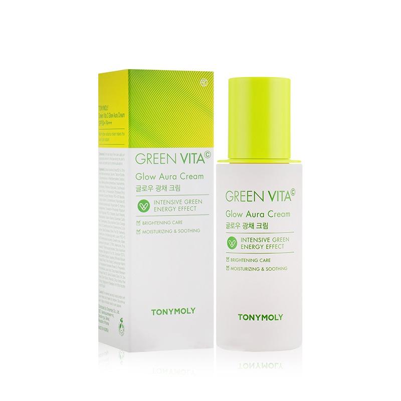 Own label brand, [TONYMOLY] Green Vita C Glow Aura Cream 50ml (Weight : 141g)