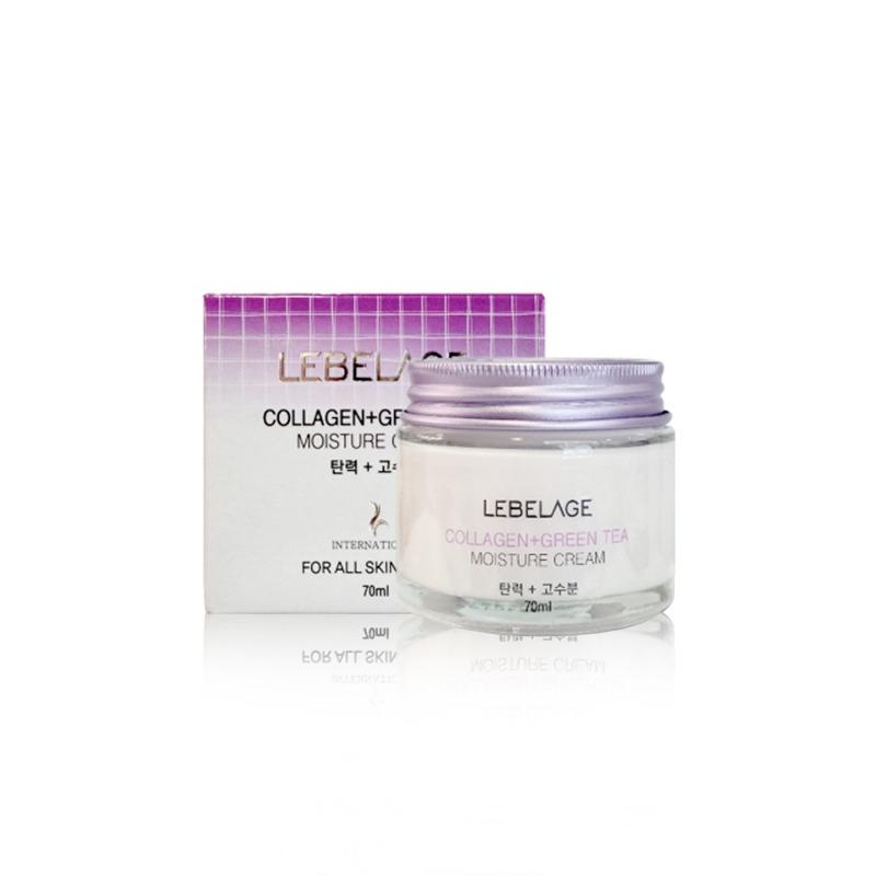 Own label brand, [LEBELAGE] Collagen+Green Tea Moisture Cream 70ml (Weight : 225g)