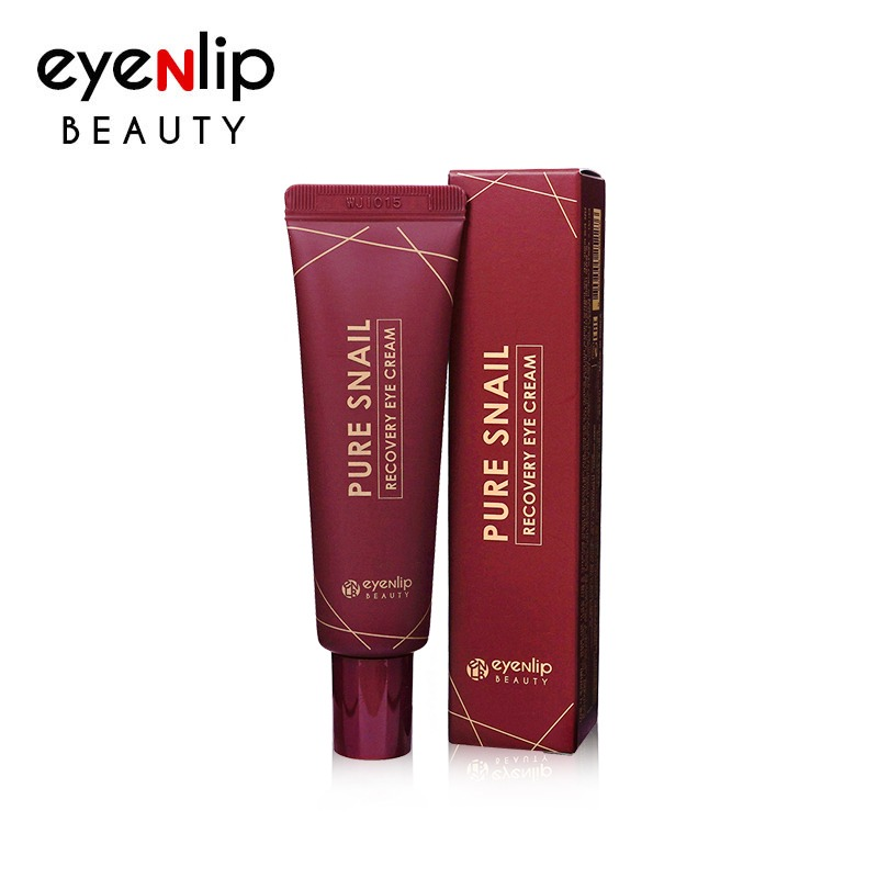 Own label brand, [EYENLIP] Pure Snail Recovery Eye Cream Tube 30ml (Weight : 47g)