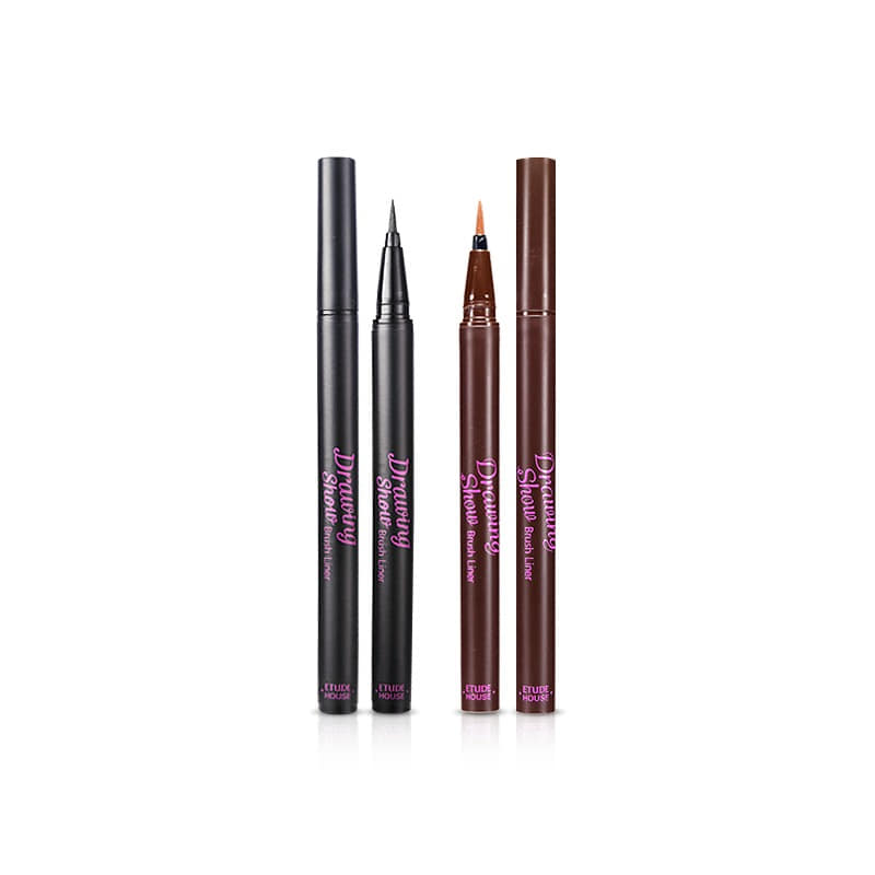 Own label brand, [ETUDE HOUSE] Drawing Show Brush Liner 0.6g 2 Color (Weight : 11g)
