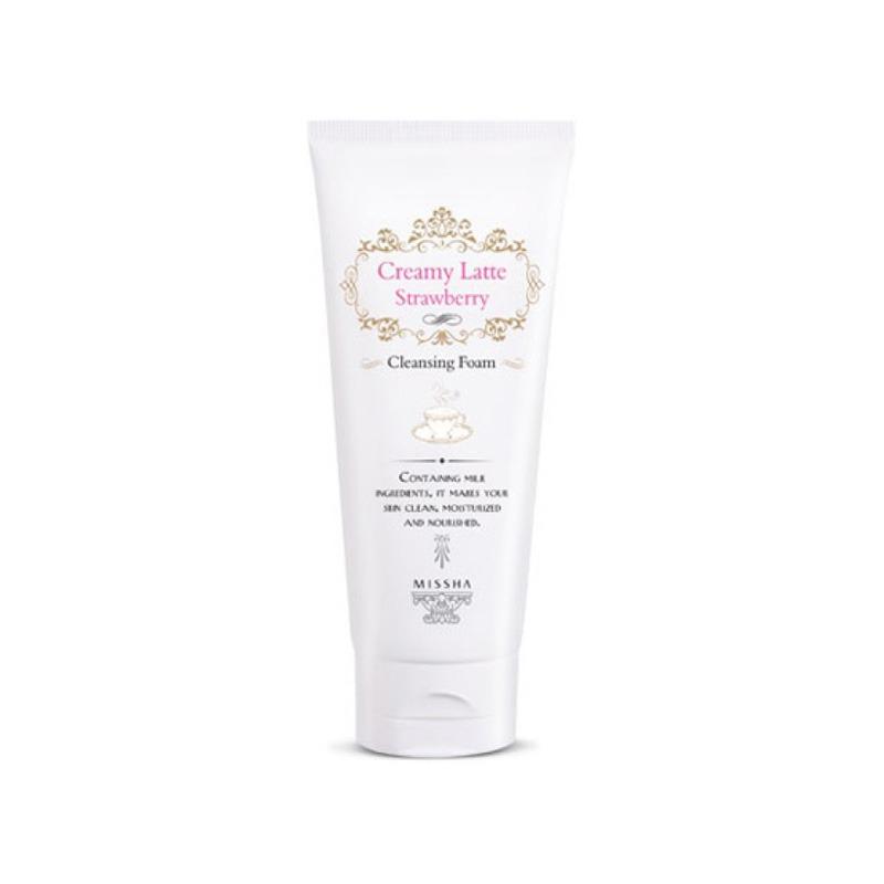 Own label brand, [MISSHA] Creamy Latte Cleansing Foam 172ml # Strawberry (Weight : 218g)