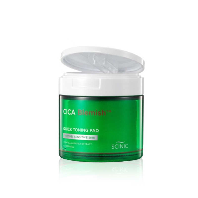 Own label brand, [SCINIC] Cica Blemish Quick Toning Pad (60ea) 135ml (Weight : 251g)