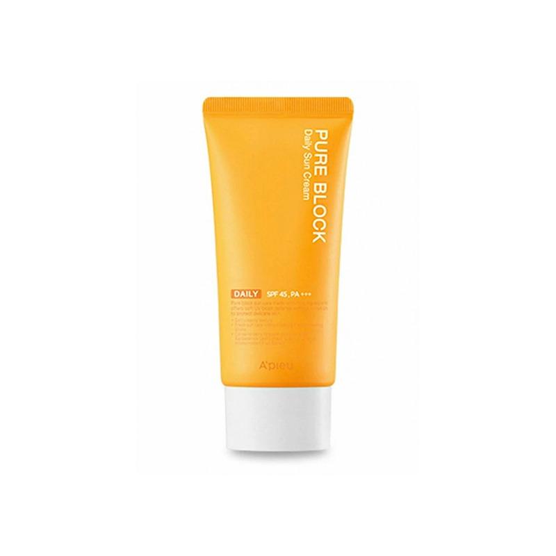Own label brand, [A'PIEU] Pure Block Daily Sun Cream 50ml (SPF45/PA+++) (Weight : 68g)