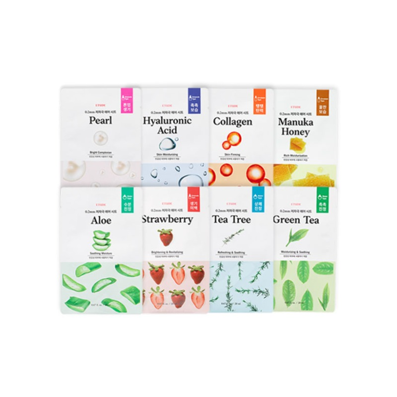 Own label brand, [ETUDE HOUSE] 0.2 Therapy Air Mask 20ml 12 Types (Weight : 28g)