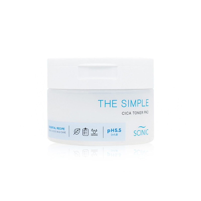 Own label brand, [SCINIC] The Simple Cica Toner Pad (60ea) 120g (Weight : 246g)
