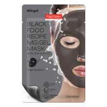 Own label brand, [PUREDERM] Black Food Recipe MG:gel Mask 23g   (Weight : 38g)