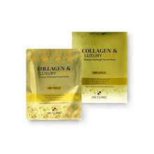 Own label brand, [3W CLINIC] Collagen & Luxury Gold Energy Hydrogel Facial Mask 30g 1pc  (Weight : 54g)
