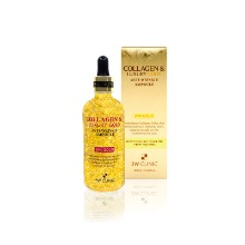 Own label brand, [3W CLINIC] Collagen & Luxury Gold Anti Wrinkle Ampoule 100ml (Weight : 232g)