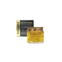 Own label brand, [FARM STAY] 24K Gold & Peptide Perfect Ampoule Cream 80ml (Weight : 248g)