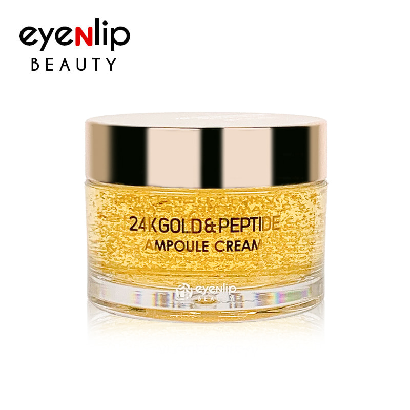 Own label brand, [EYENLIP] 24K Gold & Peptide Ampoule Cream 50g (Weight : 138g)