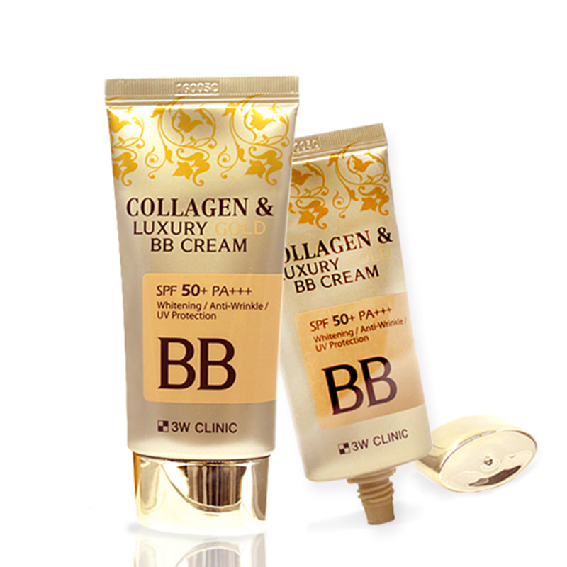 Own label brand, [3W CLINIC] Collagen & Luxury Gold BB Cream (SPF50+/PA+++) 50ml (Weight : 83g)