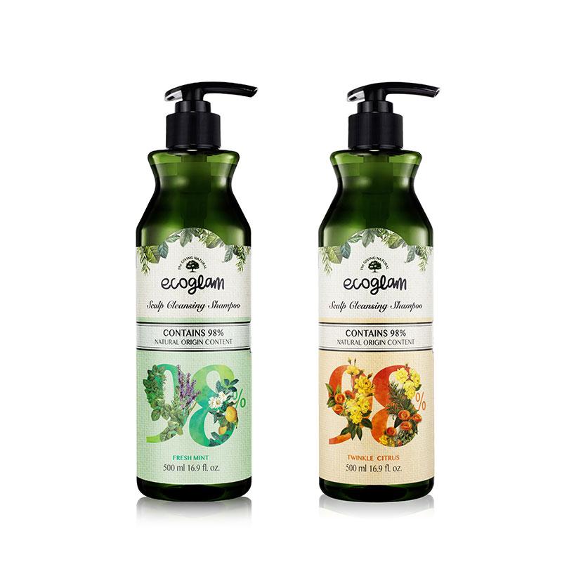 Own label brand, [SKINZEN] Ecoglam Scalp Cleansing Shampoo 500ml 2 Type (Weight : 604g)