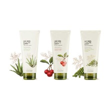 Own label brand, [THE FACE SHOP] Herb Day 365 Master Blending Foam Cleanser 170ml 3 Type (Weight : 213g)