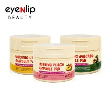 Own label brand, [EYENLIP] Morning Ampoule Pad 120ml / 100 Pads 3 Type (Weight : 235g)