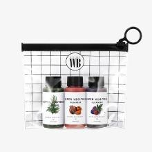 Own label brand, [WONDER BATH] Super Vegitoks Cleanser Miniature Kit 30ml * 3ea (Green, Red, Purple) (Weight : 139g)