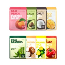 Own label brand, [FARM STAY] Real Essence Mask 23ml * 1pcs 8 Type (Weight : 30g)