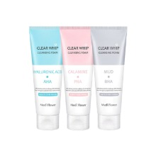 Own label brand, [MEDI FLOWER] Clear Whip Cleansing Foam 120ml 3 Type (Weight : 142g)