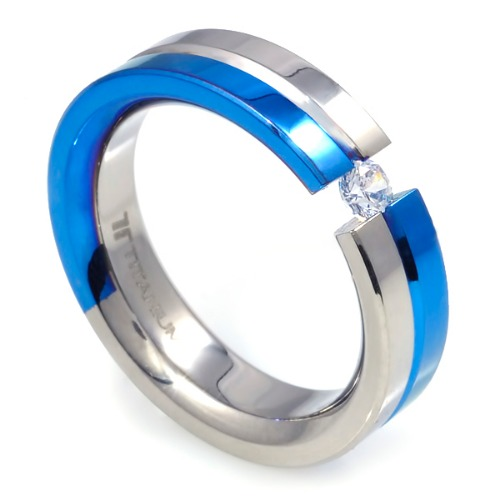 T-227 - TATIAS, Anodizing Colored Titanium Ring