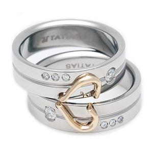 T-537 DIA CO - TATIAS, 钛金情侣戒指