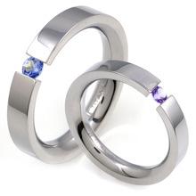 T-568 DIA CO - TATIAS, Titanium Couple Ring