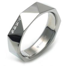 T-988 DIA - TATIAS, 带钻石的钛金戒指