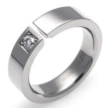 TW-737 DIA - TATIAS, Titanium Ring set with Diamonds
