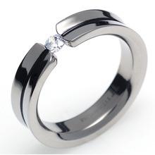 TQ-205 DIA - TATIAS, Titanium Ring set with Diamonds