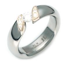 TQ-920 DIA - TATIAS, 带钻石的钛金戒指
