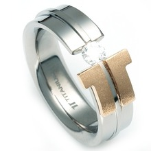 T-973 DIA - 타티아스 (TATIAS), 다이아몬드 티타늄 반지