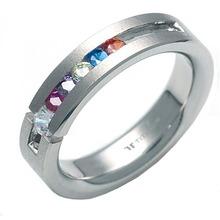 T-285 DIA - TATIAS, 带钻石的钛金戒指
