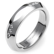 T-361 DIA - TATIAS, 带钻石的钛金戒指